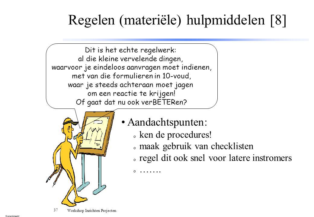 Regelen (materiële) hulpmiddelen [8]